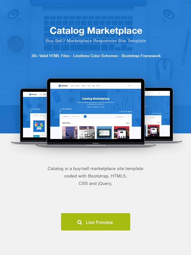 Catalog | Buy Sell / Marketplace Responsive Site Template by ...