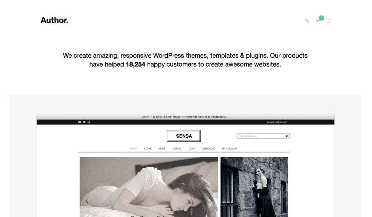 Author WordPress Themes