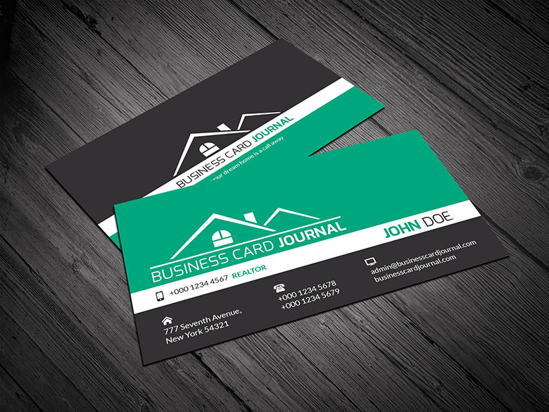Free Business Card Template Real Estate Gallery Card Design And - Construction business card templates download free