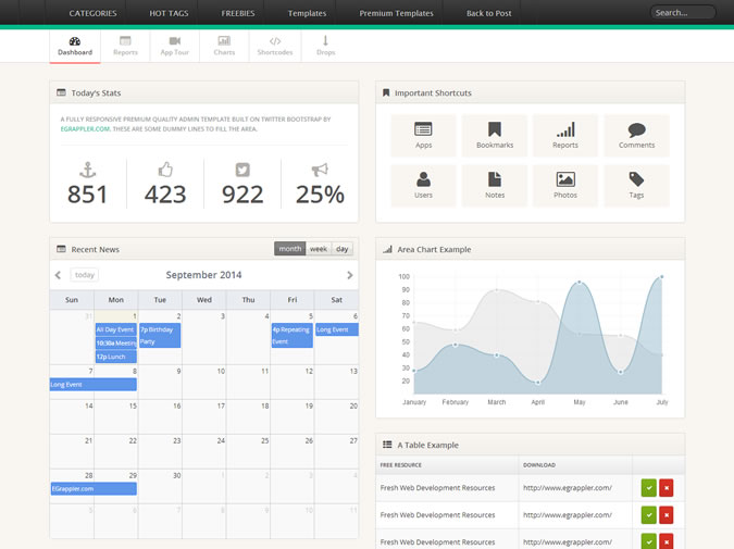 15 best free bootstrap admin templates of all time show wp templatevamp admin pronofoot35fo Images