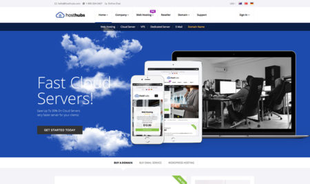 HostHubs a WHMCS Compatible Web Hosting Template