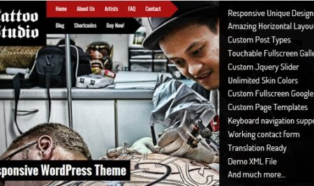 15+ Stylish Tattoo WordPress themes with Responsive design