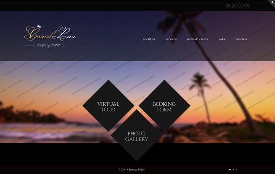 HTML5 Hotels Website Template