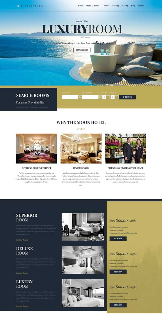 Moon – Hotel HTML Template