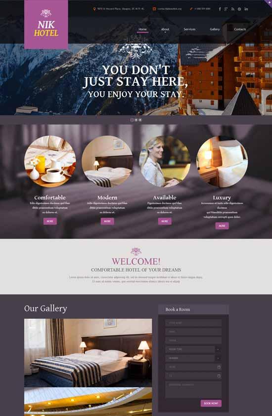 NIK Hotels Responsive Website Template