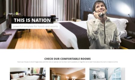 30+ Responsive Hotel HTML Templates for business