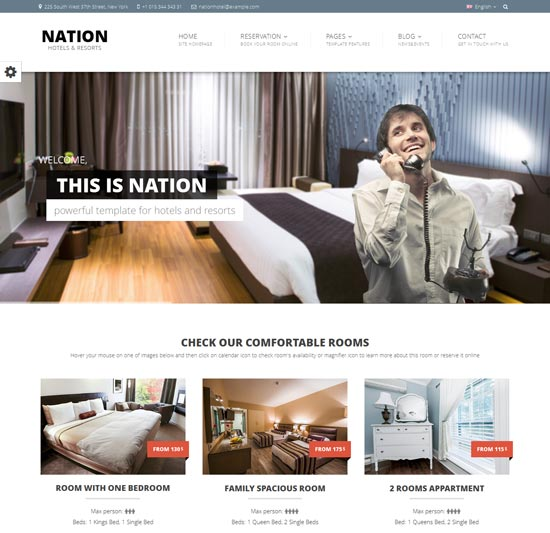 Nation Hotel – Responsive HTML Template