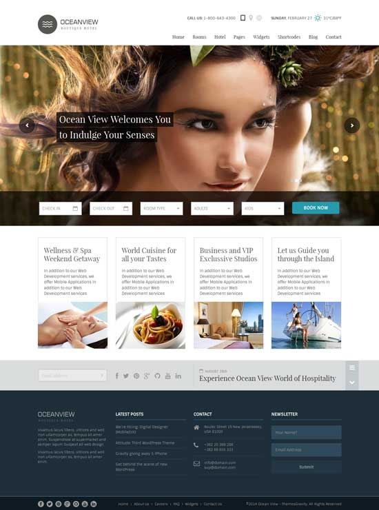 Ocean View – Hotel Website HTML Template