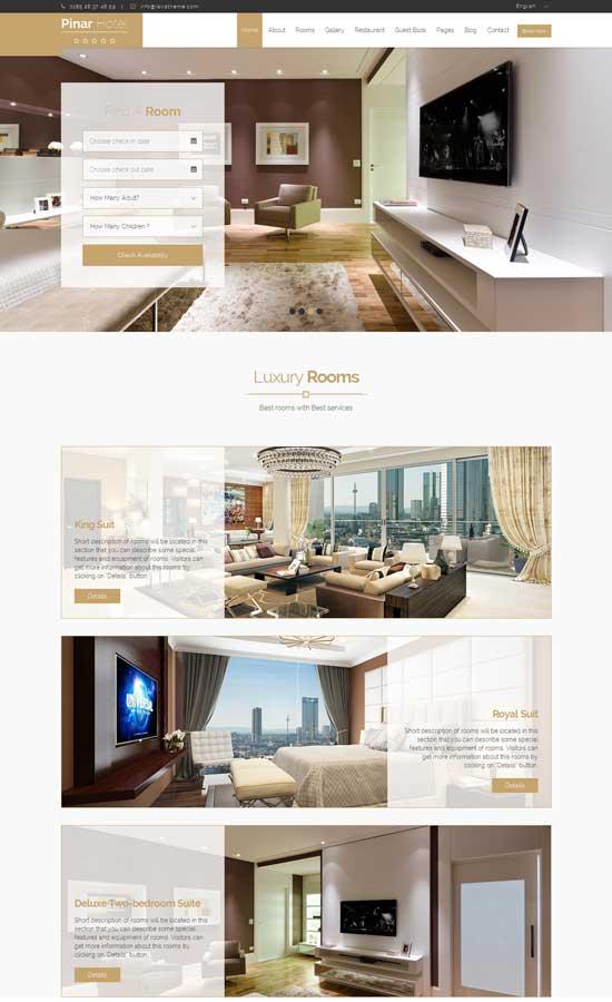 Pinar Hotel – Responsive Booking Template