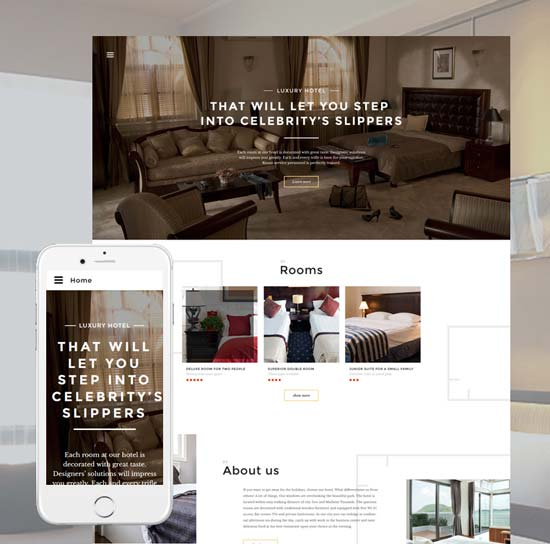 Hotels Responsive Website Template 57805