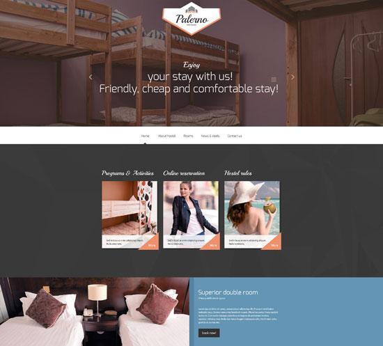 Palerna Hotels Responsive Website Template