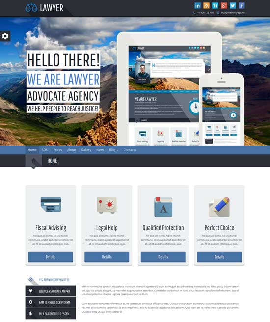 Lawyer – Bootstrap Responsive WP Theme