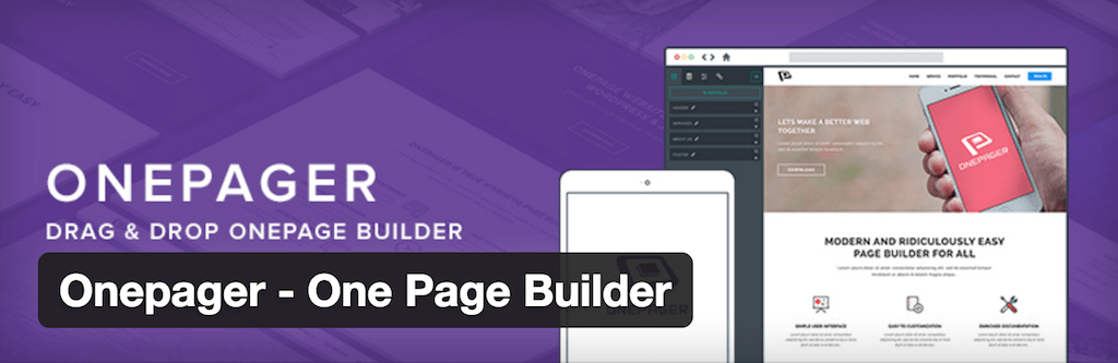 Onepager – One Page Builder