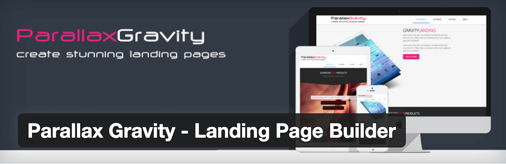 Parallax Gravity – Landing Page Builder