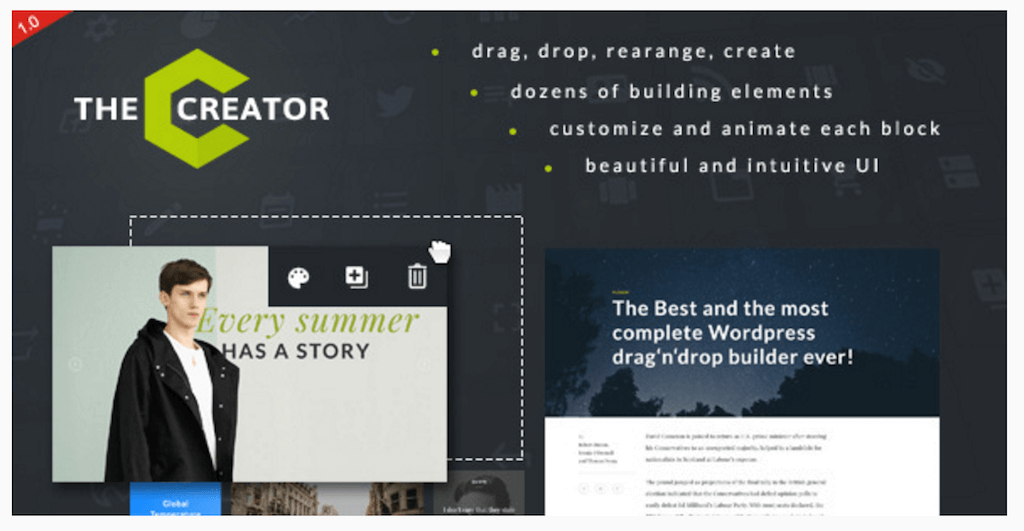 The Creator – Visual Page Builder for WordPress