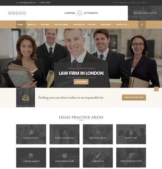 Lawyer Attorneys – A Law Office WordPress Theme