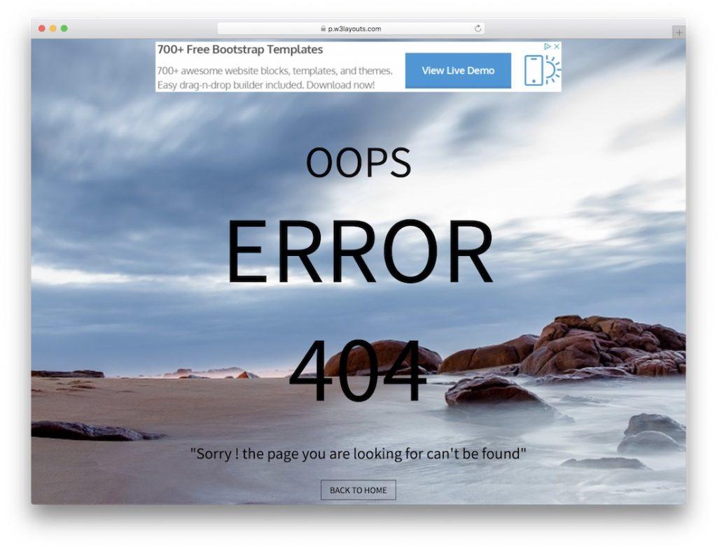 Simple Error Page