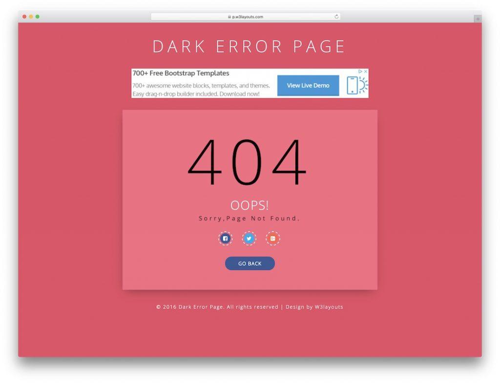 Dark Error Page