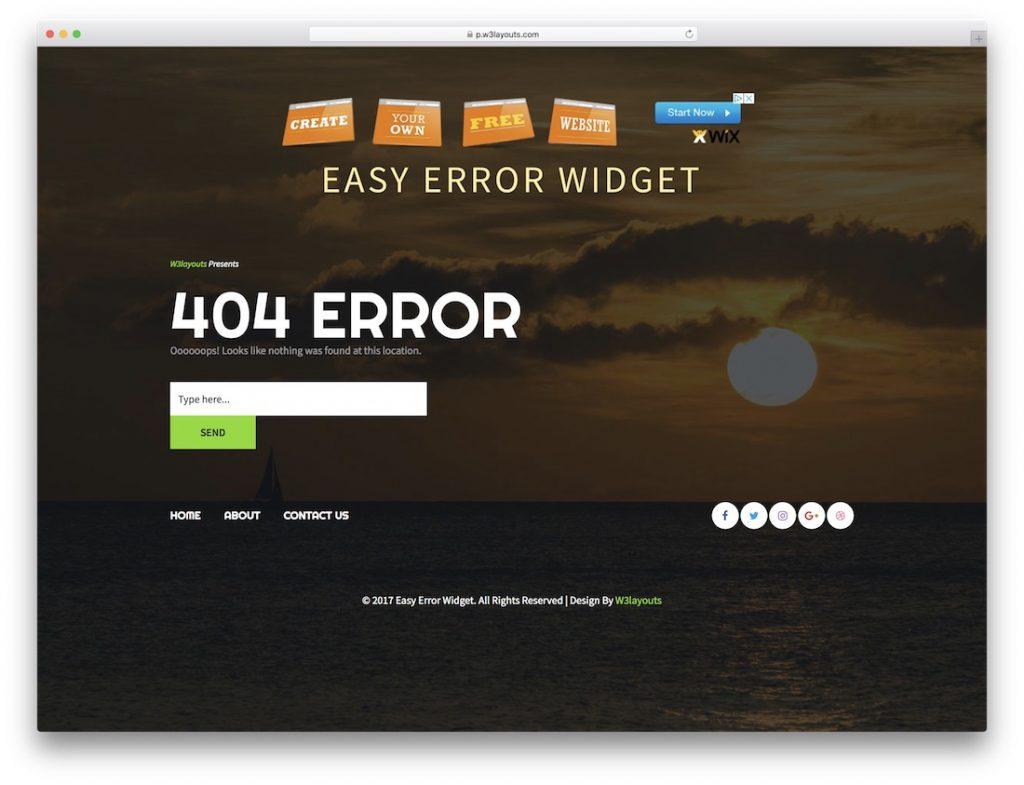 Easy Error Widget