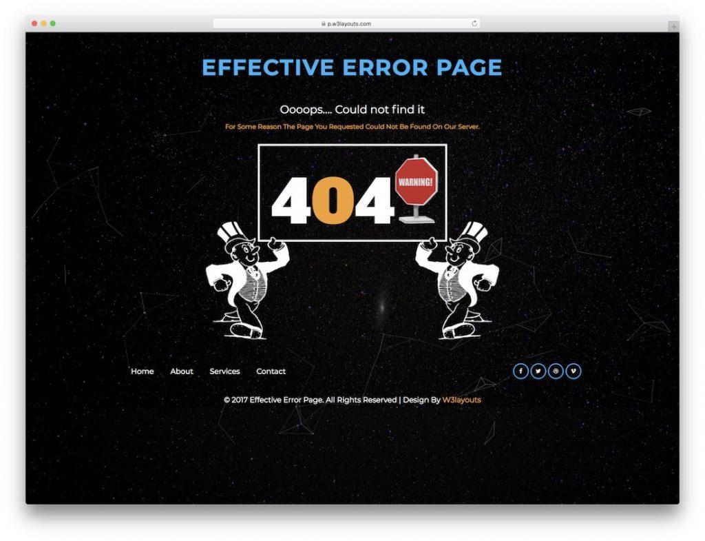 Effective Error Page