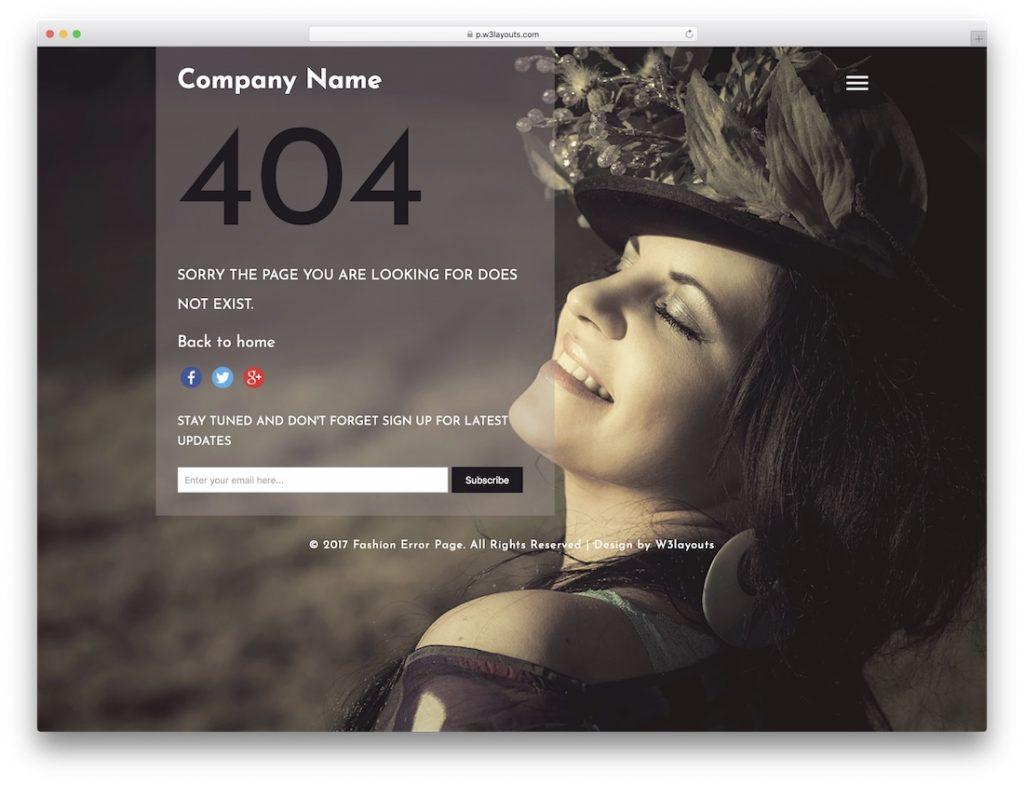 Fashion Error Page