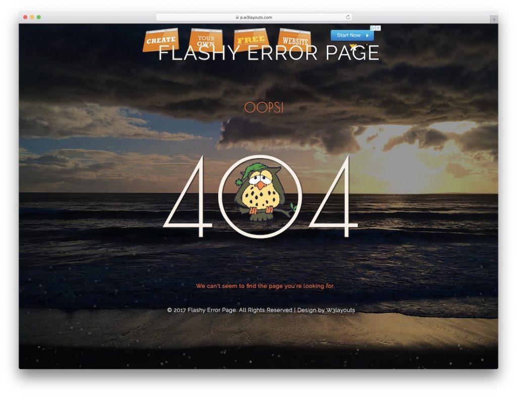 Flashy Error Page