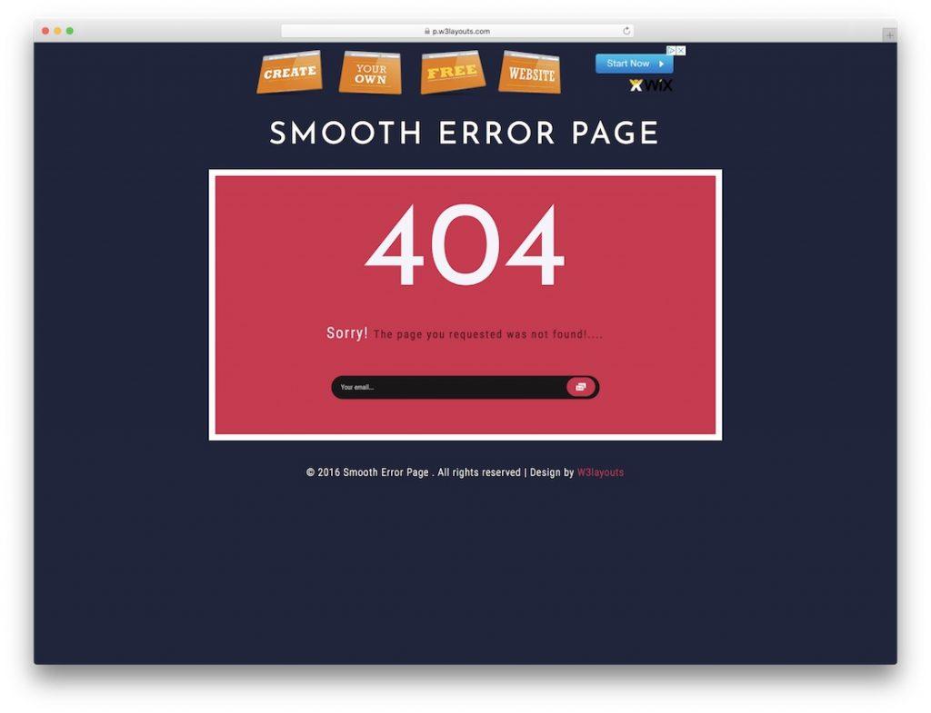 Smooth Error Page